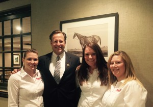 Representative Dave Brat with some of our Pepper's employees.